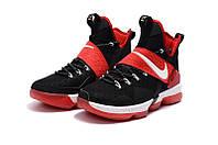 Мужские баскетбольные кроссовки Nike LeBron 14 (Black/Red-White), фото 1