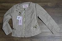 Весенняя куртка для девочек ( кож-зам) 110- 122 рост