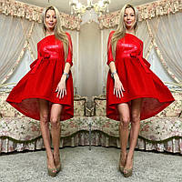 Пышное платье эко-кожа + неопрен 062 (СВИК)
