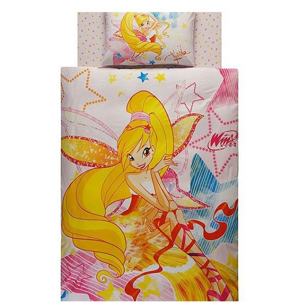 Комплект детского постельного белья  TAC Winx Harmonix Stella