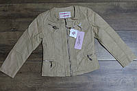 Весенняя куртка для девочек ( кож-зам) 110- 128  рост