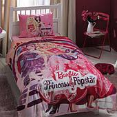 Комплект дитячої постільної білизни TAC Barbie Princess Popstar