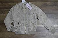 Весенняя куртка для девочек ( кож-зам) 98- 110 рост