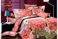 Евро maxi комплект постельного белья Sveline Tekstil S1363АВ (сатин)