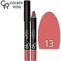 Golden Rose - Губная помада-карандаш Matte Lipstick Crayon Тон 13 pink natural, карамель