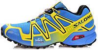 Мужские кроссовки Salomon Speedcross 3 Саломон голубые