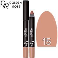 Golden Rose - Губная помада-карандаш Matte Lipstick Crayon Тон 15 nude, светлая пастель, фото 2