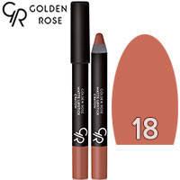 Golden Rose - Губная помада-карандаш Matte Lipstick Crayon Тон 18 caramel nature, карамель