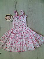 Детское летнее Платье сарафан для девочки 5933 Вьетнам