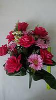 Искусственный букет роза с герберой