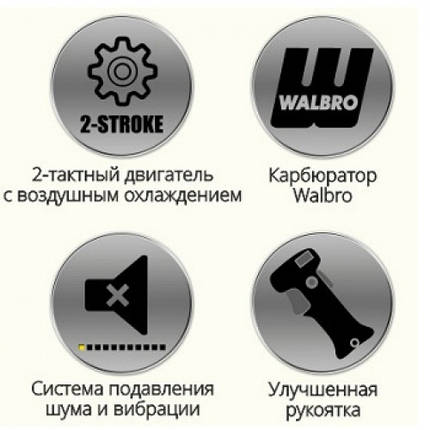 Бензокоса Уралсталь УБТ - 5950 , 1 нож , 1 бабина , фото 2