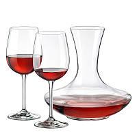 Набор для вина (графин 1500мл+ бокали 450мл-2шт) 3 предмета стекло Rona