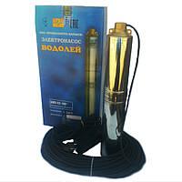 Скважинный насос для воды  Водолей БЦПЭ 0,5-63у d=104 мм каб.40 м