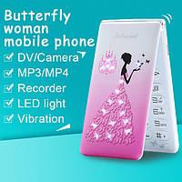 MAFAM D11 раскладной flip телефон со стразами 2SIM