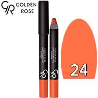 Golden Rose - Губная помада-карандаш Matte Lipstick Crayon Тон 24 apricot, абрикос