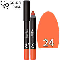Golden Rose - Губная помада-карандаш Matte Lipstick Crayon Тон 24 apricot, абрикос, фото 2