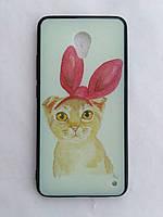 Силиконовый чехол для Meizu M3E с рисунком Кот с ушками, фото 1