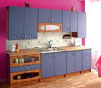 Кухня Импульс 2,6 метра небесно голубая