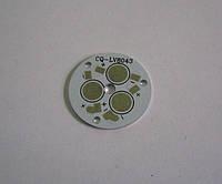 Плата алюминиевая (подложка) для 3-х светодиодов 1-3 Вт, 28mm