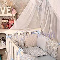 Комплект в кроватку (бортики - подушки) Baby Design ice ПРЕМИУМ (натуральный наполнитель - ekotton)