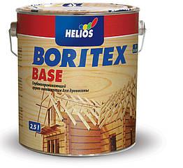 Антисептик Helios Bori Tex Base – Тонкослойная пропитка с биоцидом для дерева