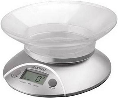 Кухонные весы Maxwell MW-1451 Silver (электронные весы)