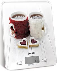 Ваги кухонні Vitek VT-2424 White (електронні ваги)