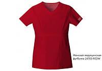 Женская медицинская футболка с V-округлым вырезом  Stretch 24703, ТМ Cherokee