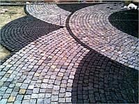 Брусчатка тротуарная из украинского гранита (изготовление и укладка)