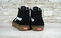 Кеды мужские Vans Suede high (ванс замшевые) черные