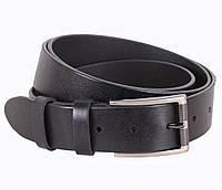 Повседневный мужской кожаный ремень джинсовый 3,5 см черный
