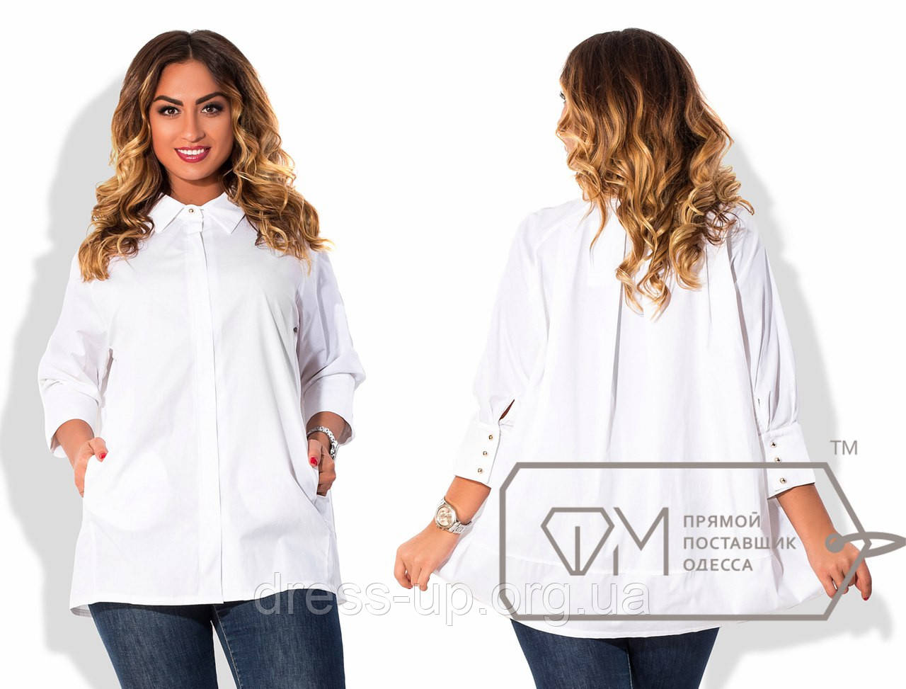 b06de7dcae0 Купить Рубашку женскую белую PY -010 оптом и в розницу в Одессе