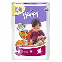 Подгузники Happy 5 junior 12-25 кг 58 шт