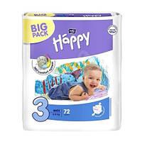 Подгузники Happy 3 midi 5-9 кг 72 шт