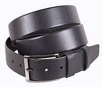 Кожаный ремень для полных мужчин 4 см черный