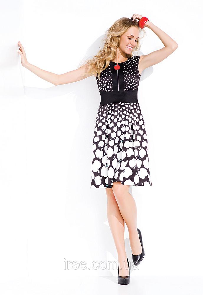 Летнее женское платья с принтом. Модель Michelle Zaps.
