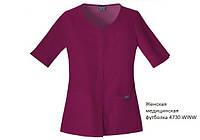 Женская медицинская футболка с изогнутым V-образным вырезом Work wear , ТМ Cherokee