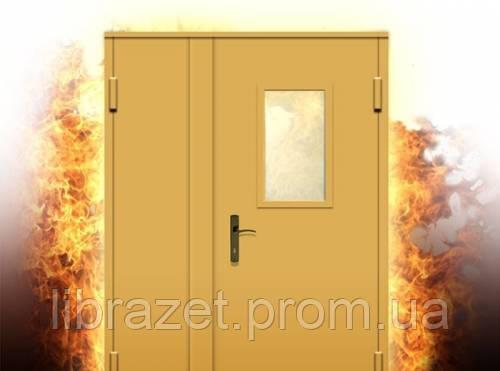 Дверь противопожарная двухстворчатая с остеклением - ООО ЛИБРА ЗЕТ в Днепре