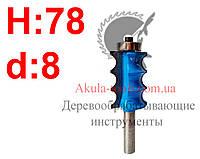 H78 d8 Фреза Karnasch кромочная фигурная с нижним подшипником