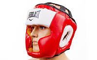 Шлем боксерский с полной защитой EVERLAST (синий, рр L-XL)
