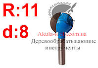 R11 d8 Фреза Karnasch  шаровая пазовая фреза