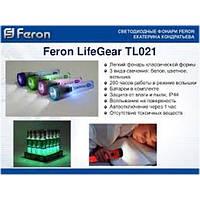 Фонарик FERON LifeGear 2 LEDS голубой 3* АА TL021