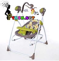 Колыбель-качели 3 в 1 (качель-шезлонг-стульчик для кормления) Baby Tilly BT SC 005 зеленый