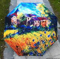Зонт полуавтомат Домик на лугу