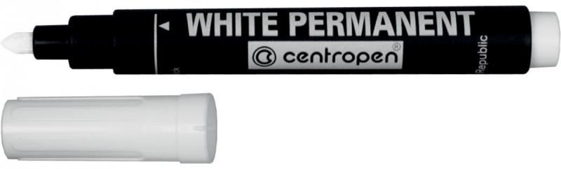 "Маркер ""Centropen"" перманентный 8586 белый"