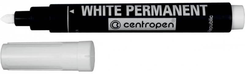 """Маркер """"Centropen"""" перманентный 8586 белый, фото 2"""
