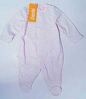 Комбинезон для новорожденной девочки Белый 62 см 3 м 03004001132 КБ4д Бэмби Украина