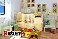 """Детская кроватка-трансформер """"LIGHT"""" (КЛЁН)"""