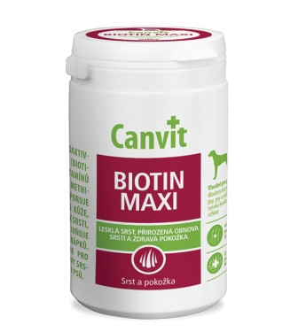 Витаминно-минеральная добавка Canvit BIOTIN MAXI для собак, весом более 25 кг, 500 гр