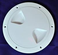 Лючок инспекционный 102mm белый